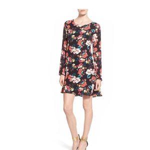 Floral print swing dress